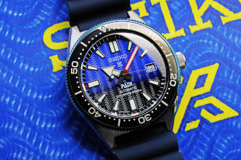 Seiko Prospex Automatic PADI Dive Watch with Blue Dial SBDC055