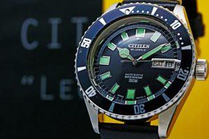 "Citizen""Leopard""150m diver day-date 4-722710 Y Cal.7210"