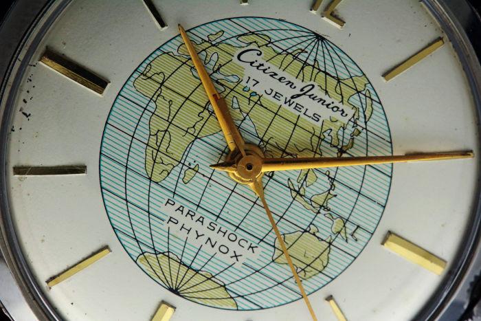 シチズン ジュニア・ワールドタイム J140317 ステンレス 世界地図 手巻き オーバーホール済み
