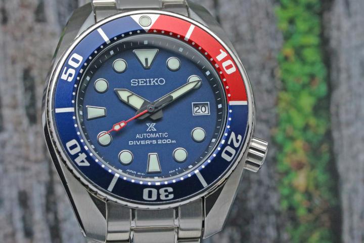 SEIKO WATCHES PROSPEX 200M AUTOMATIC BLUE/RED SUMO REF. SBDC057