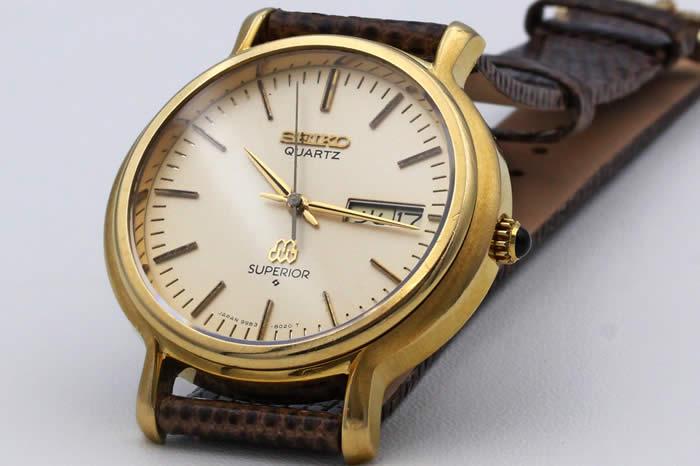 セイコー スーペリア ツインクォーツ キャップゴールド 9983-8020 1978年8月 オーバーホール済み
