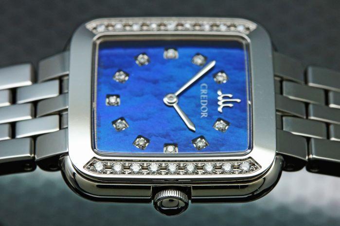 セイコー クレドール シグノ GSTE837 白蝶貝ダイヤル(ブルー)/ ダイヤモンド