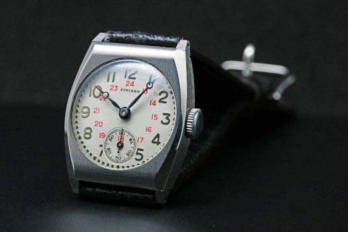 シチズン F-戦中型 大日本時計株式会社 機械式(手巻)5ビート オーバーホール済み