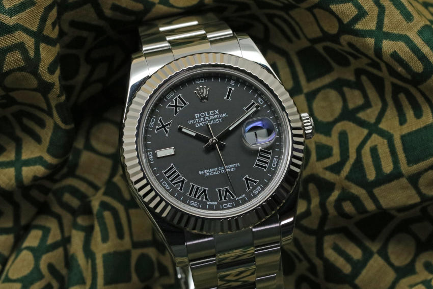 116334 Rolex Datejust II Stainless Steel Grey Dial 41mm
