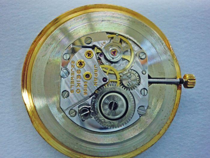 セイコー極薄型高級ドレスウオッチ(U.T.D.) 6810-0020 18Kイエローゴールド 1973年7月(昭和48年)亀戸 手巻き (6)